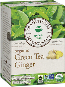 Traditional Medicinals Organic Green Tea Ginger -- 16 Tea Bags