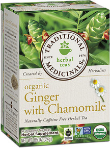 Traditional Medicinals Herbal Tea Organic Ginger and Chamomile -- 16 Tea Bags