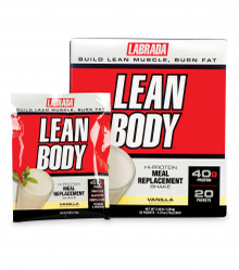 "Vanilla Lean Body ""Carb-Watcher"" Individual Shake Powder Packets - 20 Packets"