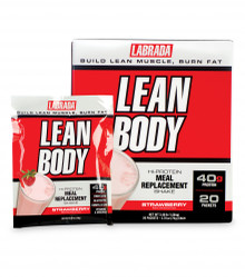 "Strawberry Lean Body ""Carb-Watcher"" Individual Shake Powder Packets - 20 Packets"