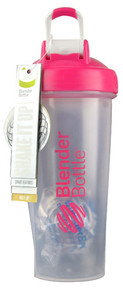 BlenderBottle Classic™ 28 oz with Loop Clear-Pink -- 1 Cup