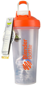 BlenderBottle Classic™ 28 oz with Loop Clear-Orange -- 1 Cup