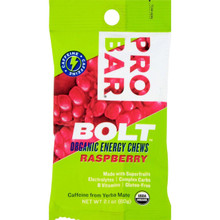 ProBar Bolt Organic Energy Chews (Gluten Free) Raspberry - 1 packet