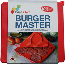 Burger Master 8-in-1 Burger Press & Freezer Container
