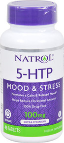 Natrol 5-HTP Mood & Stress Time Release -- 100 mg - 45 Tablets