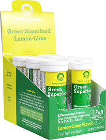 Amazing Grass Green Superfood® Effervescent Greens Lemon-Lime - per tube