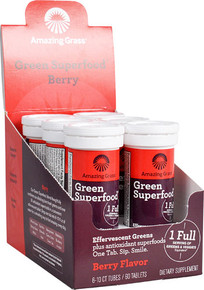 Amazing Grass Green Superfood® Effervescent Greens Berry - per tube