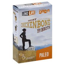 LonoLife Chicken Bone Broth, 100% Paleo Certified 10g Protein (Stick Pack), 4 Count