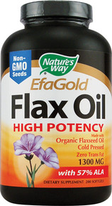 Nature's Way EfaGold® Flax Oil -- 200 Softgels