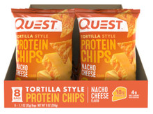 NACHO CHEESE TORTILLA STYLE PROTEIN CHIPS