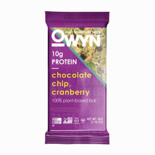 OWYN VEGAN PLANT-BASED PROTEIN BARS - CHOCOLATE CHIP AND CRANBERRY