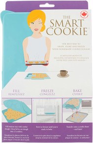 Shape+Store The Smart Cookie Innovative Cookie Cutter and Freezer Container, Baker's dozen, Blue