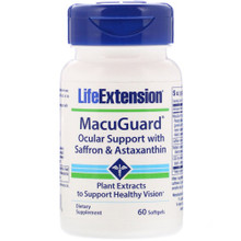 Life Extension MacuGuard® Ocular Support with Saffron & Astaxanthin -- 60 Softgels
