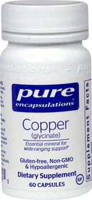 Copper (glycinate) -- 60 Capsules