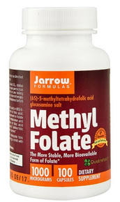 Methyl Folate -- 1000 mcg - 100 Capsules