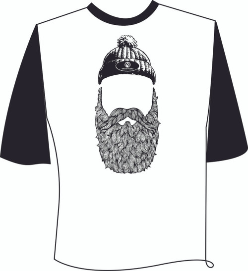 Faceless Bearded Man Baseball T-Shirt