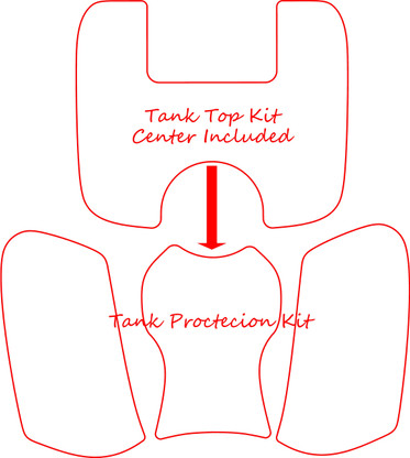 Also showing the Tank Bag kit, sold separately.