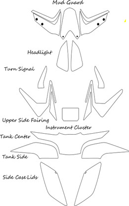 2019-2020   Indicate in comments box if your side fairings and side cases are a matte finish?