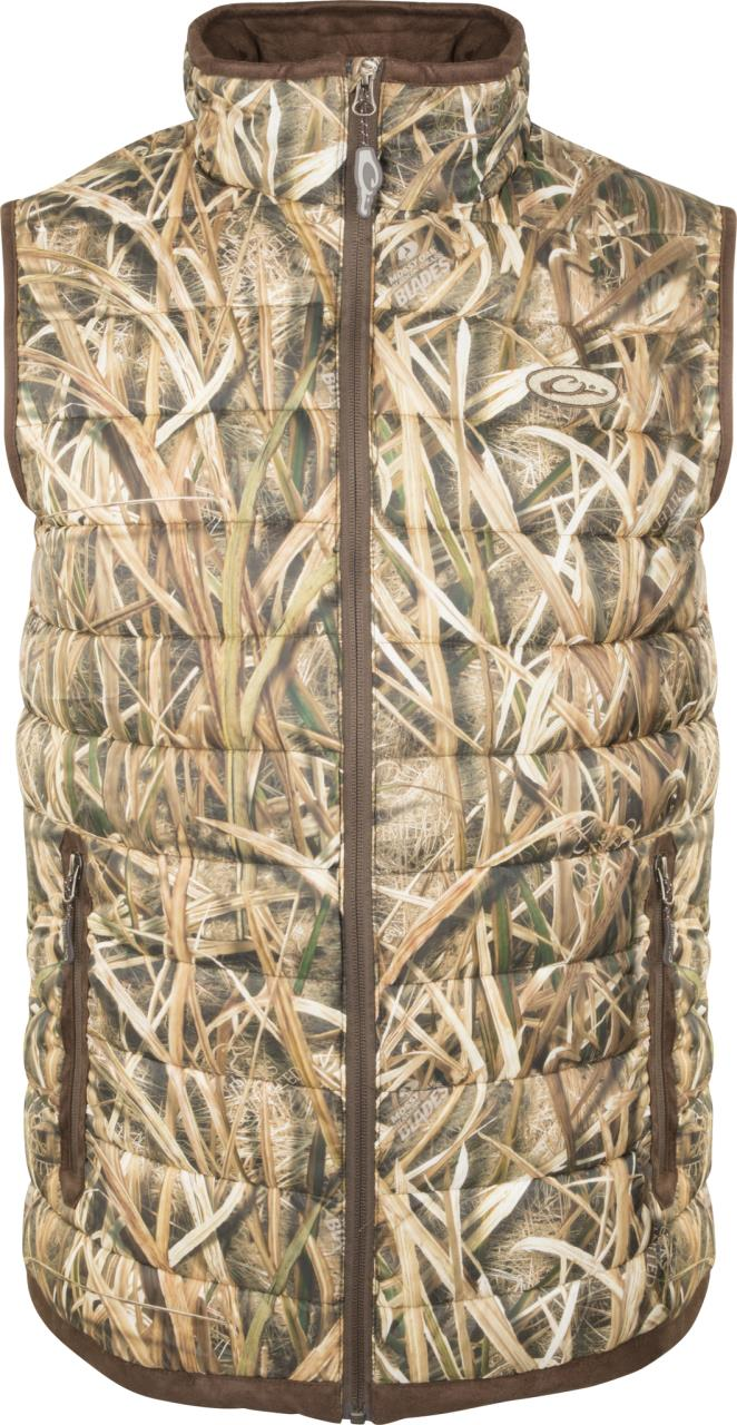 f75dd1cf18153 Drake Men's LST Camo Double Down Layering Vest - Simmons Sporting Goods