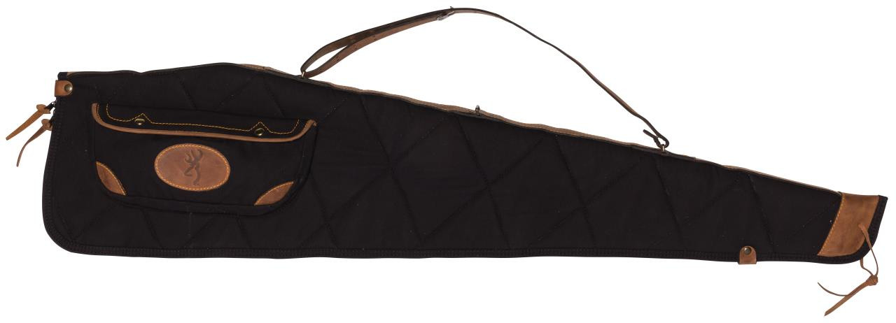 Browning Lona Canvas/Leather Rifle Cases - Flint/Brown or Black/Brown - 023614486305