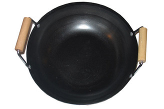 Asian Wok with 2 Side Wood Handles 27.5cm (10.8 inch)