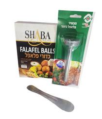Falafel Balls Quick Preparation Mix + 4 cm Falafel Scoop + Spatula