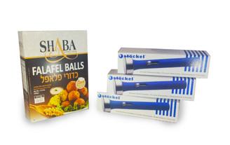 Falafel Balls Quick Preparation Mix + 3 Sizes of Stockel Falafel Scoop