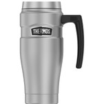 Thermos 16oz Stainless Steel Travel Mug - Matte Steel - 7 Hours Hot\/18 Hours Cold
