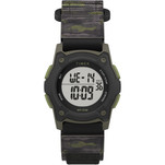 Timex Kids Digital 35mm Watch - Green Camo w\/Fastwrap Strap