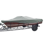 Carver Performance Poly-Guard Styled-to-Fit Boat Cover f\/19.5 Tournament Ski Boats - Grey