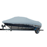 Carver Performance Poly-Guard Styled-to-Fit Boat Cover f\/17.5 Sterndrive V-Hull Runabout Boats (Including Eurostyle) w\/Windshield  Hand\/Bow Rails - Grey