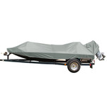 Carver Performance Poly-Guard Styled-to-Fit Boat Cover f\/15.5 Jon Style Bass Boats - Shadow Grass