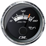 "Faria Platinum 2"" Oil Pressure Gauge - 80 PSI"
