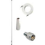 Glomex 4 Glomeasy VHF Antenna 3dB w\/FME Termination, 6M Coaxial Cable, RA300 Adapter  PL259 Connector