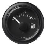 "VDO Marine 52mm (2-1\/16"") ViewLine Fuel Tank Level Gauge 0-1\/1 - 8\/32V - 90-4 OHM - Black Dial  Round Bezel"