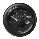"VDO Marine 2-1\/16"" (52mm) ViewLine Transmission Oil Pressure 400 PSI\/25 Bar - 8-32V - Black Dial  Round Bezel"