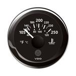 """VDO Marine 2-1\/16"""" (52mm) ViewLine Temperature Gauge 100-250F - 8-32V - Black Dial  Bezel"""