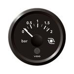 "VDO Marine 2-1\/16"" (52mm) ViewLine Boost Pressure Gauge 2 Bar\/30 PSI - 8-32V - Black Dial  Triangular Bezel"
