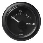 "VDO Marine 2-1\/16"" (52mm) ViewLine Fresh Water Resistive 0-1\/1 - 8-32V - 3-180 OHM - Black Dial  Round Bezel"