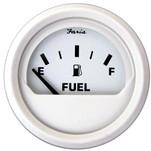 """Faria 2"""" Fuel Level Gauge (E-1\/2-F) - White"""