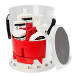 Shurhold 5 Gallon White Bucket Kit - Includes Bucket, Caddy, Grate Seat, Buff Magic, Pro Polish Brite Wash, SMC  Serious Shine