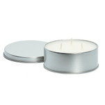 """Camco Citronella Candle w\/Lid - 4"""" x 1"""" 16-Hour Burn Time - 3 Wicks *6-Pack"""