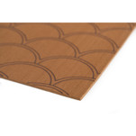 "SeaDek 40"" x 80"" 5mm Sheet Mocha Brushed Fish Scale - 1016mm x 2032mm x 5mm"