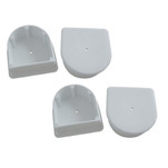 Dock Edge Small End Plug - White *4-Pack
