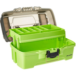 Plano 1-Tray Tackle Box w\/Dual Top Access - Smoke  Bright Green