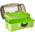 Plano 1-Tray Tackle Box w\/Dual Top Access - Smoke  Bright Green