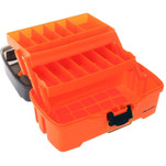 Plano 2-Tray Tackle Box w\/Dual Top Access - Smoke  Bright Orange