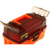 Plano 2-Tray Tackle Box w\/Dual Top Access - Smoke  Bright Orange