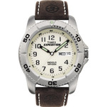 Timex Expedition Mens Traditional Silver\/Brown
