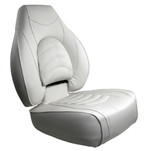 Springfield Fish Pro High Back Folding Seat - White